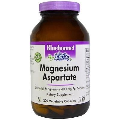 Magnesium Aspartate, 400 mg, 200 Vegetable Capsules