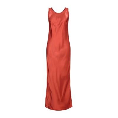GRAZIA'LLIANI SOON ロングワンピース&ドレス 赤茶色 42 シルク 92% / コットン 8% ロングワンピース&ドレス