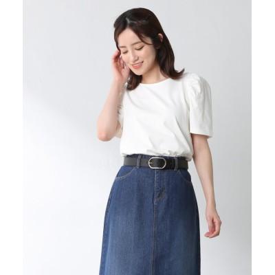 (Honeys/ハニーズ)ボリューム袖Tシャツ/レディース ホワイト