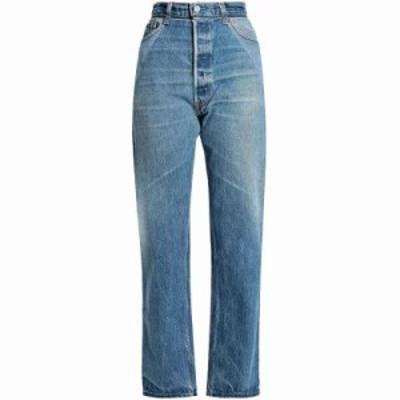 リーバイス ジーンズ・デニム Patchwork-effect high-rise straight-leg jeans Mid denim