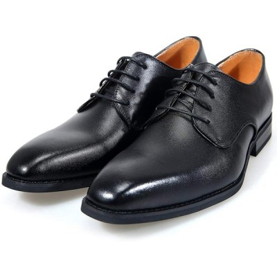 アラモーダ 日本製 ビジネスシューズ 本革 メンズ 革靴 紳士靴 外羽根プレーントウ 1261 ブラック 25.5cm