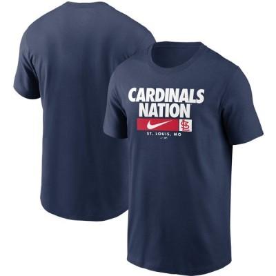 ナイキ Tシャツ トップス メンズ St. Louis Cardinals Nike Local Nickname TShirt Navy