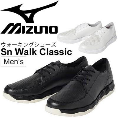 ウォーキングシューズ メンズ ミズノ Mizuno Sn ウォーク クラシック 紳士靴 Sn Walk レザーシューズ 天然皮革 男性用/B1GE1841【取寄】【返品不可】