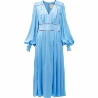 ロクサンダ Roksanda レディース ワンピース ミドル丈 ワンピース・ドレス Teruko pleated silk-charmeuse midi dress Light blue