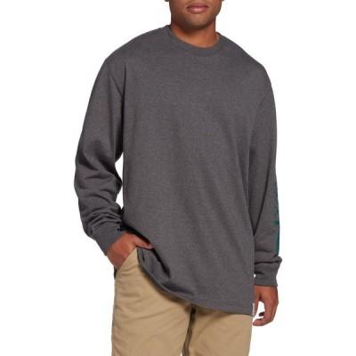 カーハート Carhartt メンズ 長袖Tシャツ トップス Sports Matter Long Sleeve T-Shirt Carbon Heather