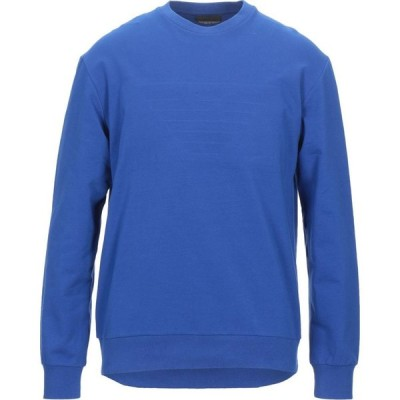 アルマーニ EMPORIO ARMANI メンズ スウェット・トレーナー トップス sweatshirt Blue