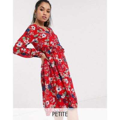 ヴェロモーダ レディース ワンピース トップス Vero Moda Petite drop waist floral smock dress