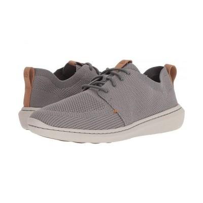 Clarks クラークス メンズ 男性用 シューズ 靴 スニーカー 運動靴 Step Urban Mix - Grey Textile Knit