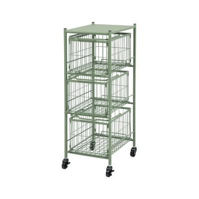 バスケットを持ち運びできる2WAYランドリーチェスト サニタリーラック・チェスト, Sanitary storages(ニッセン、nissen)