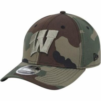 New Era ニュー エラ スポーツ用品  New Era Wisconsin Badgers Camo Woodland Camo 9FIFTY Snap Stretch Adjustable Hat