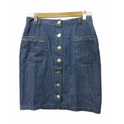 【中古】アーバンリサーチ URBAN RESEARCH スカート タイト ミニ Free 青 ブルー レディース