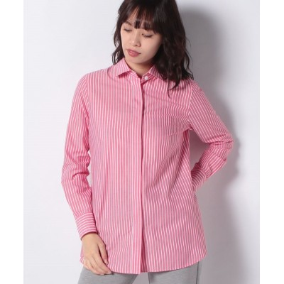 【マダム ジョコンダ】 ストライプチュニックシャツ レディース レッド 38 MADAM JOCONDE