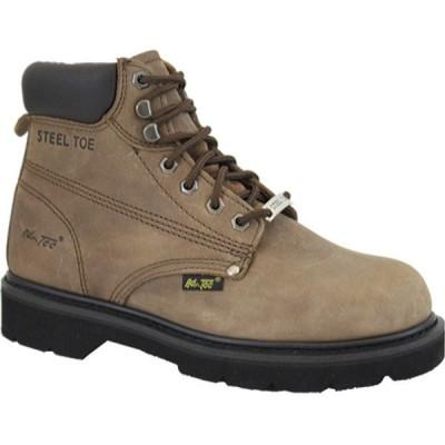"""アドテック ブーツ&レインブーツ シューズ メンズ 1981 6"""" Steel Toe Work Boot (Men's) Brown"""