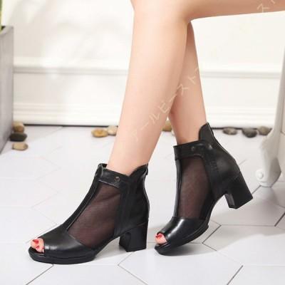サンダル レディース グラディエーターサンダル グラディエーター ヒール 大きいサイズ チュール かかとあり レディースサンダル 甲高 太ヒール 靴