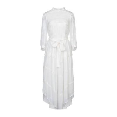 BA&SH 7分丈ワンピース・ドレス ホワイト 2 レーヨン 100% 7分丈ワンピース・ドレス