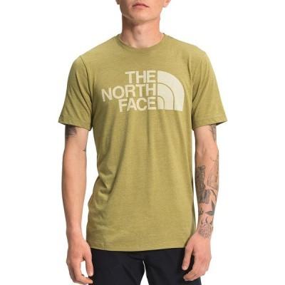 ノースフェイス メンズ Tシャツ トップス Slim Fit Short-Sleeve Field HD Tri-Blend T-Shirt Green Moss