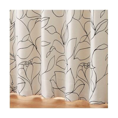 【1cm単位オーダー】モダンリリー柄遮光カーテン(1枚) ドレープカーテン(遮光あり・なし) Curtains, blackout curtains, thermal curtains, Drape(ニッセン、nissen)