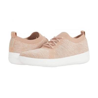 FitFlop フィットフロップ レディース 女性用 シューズ 靴 スニーカー 運動靴 F-Sporty Uberknit Sneakers - Metallic Weave - Neon Blush/Urban White