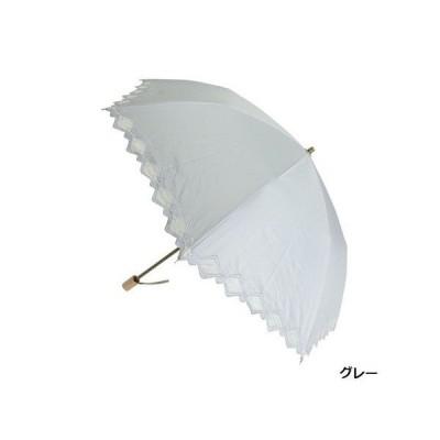晴雨兼用99.99%遮光効果・遮熱効果折たたみ傘 ドビー1級遮光生地 裾オーガンジー幾何柄刺繍傘