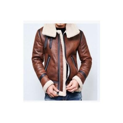 革ジャケット PU メンズ ライダースジャケット レザージャケット バイクジャケット ボア付き 裏ボア ジップアップ 革ジャン