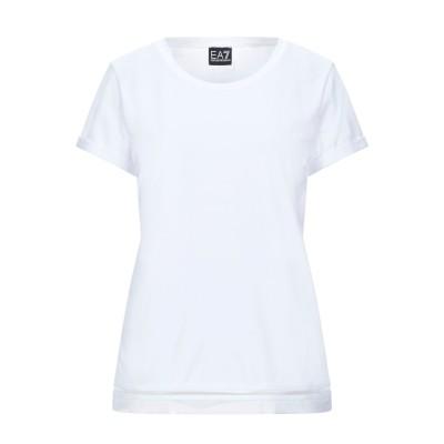 EA7 T シャツ ホワイト XXS コットン 95% / ポリウレタン 5% T シャツ