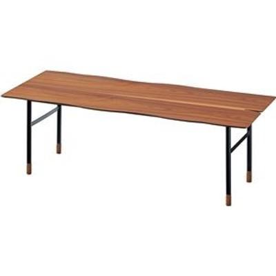 ds-2286249 ローテーブル/センターテーブル 【ウォールナット】 約幅110cm×奥行48.5cm×高さ38cm スチール 〔リビング〕 【組立品】 (ds