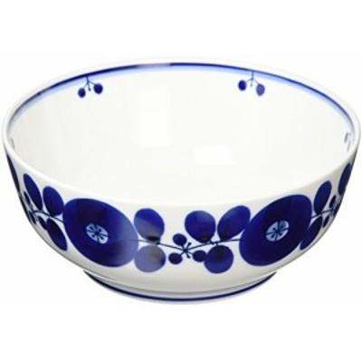 白山陶器 ボール(L) 青 (約)φ18.5×7.5cm  ブルーム BLOOM 波佐見焼 日本製