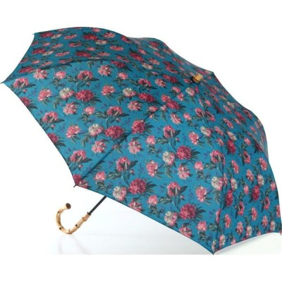 LIBERTYリバティプリントを使った晴雨兼用折り畳み傘パラソル(日傘)<Decadent Blooms>(デカダントブルームス)BLブルー 970246
