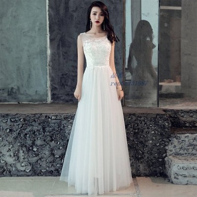 ドレス 格安 ウエディングドレス 白 ドレス 二次会 おしゃれ 結婚式 編み上げタイプ 花嫁 レース フォーマル ウェディングドレス 袖あり ワンピース