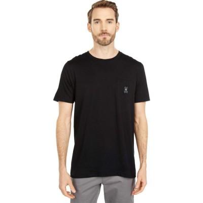 サイコバニー Psycho Bunny メンズ Tシャツ ポケット トップス Edmonton Pocket Tee Black