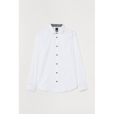 H&M - プレミアムコットンシャツ - ホワイト