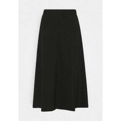 トムテイラー スカート レディース ボトムス SKIRT WITH TOPSTITCHING DETAIL - A-line skirt - deep black