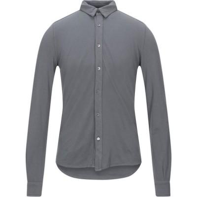 アルファス テューディオ ALPHA STUDIO メンズ シャツ トップス solid color shirt Grey