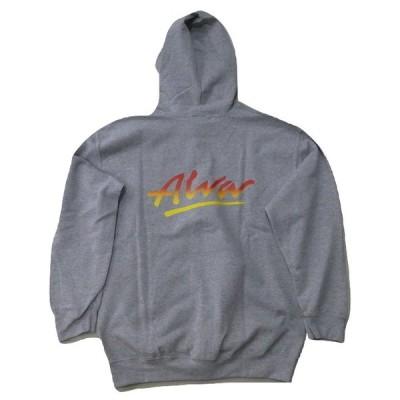 ALVA トニーアルバ TONY ALVA O.G LOGO オリジナルロゴ ZIP HOOD ジッパーフードスウェット パーカー 灰 ヘザーグレーxフェード