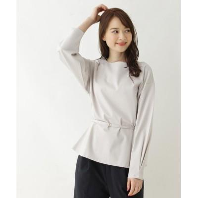 OPAQUE.CLIP / ベルテッドペプラムプルオーバー【WEB限定サイズ】 WOMEN トップス > Tシャツ/カットソー