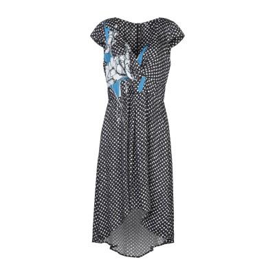 マニラ グレース MANILA GRACE ミニワンピース&ドレス ダークブルー 38 レーヨン 100% ミニワンピース&ドレス
