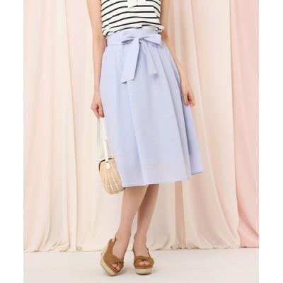 Couture brooch / 【WEB限定(LL)サイズあり/洗える】リボンベルトボイルフレアスカート WOMEN スカート > スカート