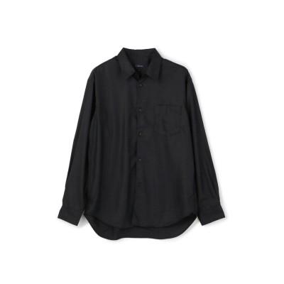 【メンズビギ】 Aラインマイクロスパンポリエステルシャツ[JAPAN FABRIC] メンズ ブラック S Men's Bigi