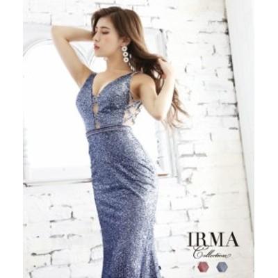 IRMA ドレス イルマ キャバドレス ナイトドレス ロングドレス 全2色 9号 M 91763 クラブ スナック キャバクラ パーティードレス