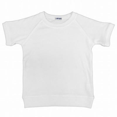 体操服 半袖 Tシャツ 体操着 スクール 丸首 シャツ キッズ ジュニア 男の子 女の子 半袖Tシャツ ホワイト 110 120 130 140 150 160 170【送料無料】