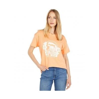 Rip Curl リップカール レディース 女性用 ファッション Tシャツ The Curl Oversized Short Sleeve Tee - Burnt Orange