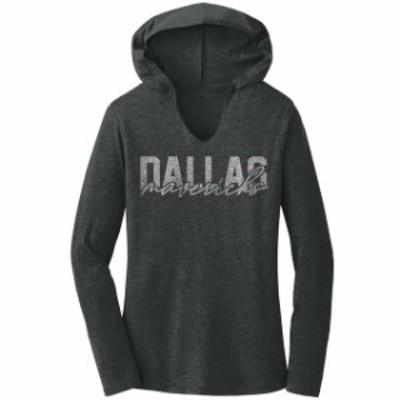 Titania Golf タイタニア ゴルフ スポーツ用品  Dallas Mavericks Womens Charcoal Bling Hoodie