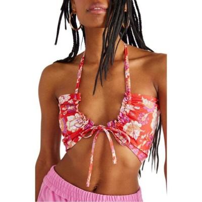 フリーピープル FREE PEOPLE レディース ブラレット バンドゥ インナー・下着 Summer of Love Bandeau Bralette Red Combo