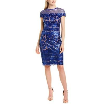 タダシショージ ワンピース トップス レディース Tadashi Shoji Sheath Dress robin blue
