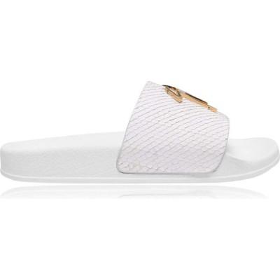 ジュゼッペ ザノッティ GIUSEPPE ZANOTTI レディース サンダル・ミュール シャワーサンダル シューズ・靴 Minipot Sliders White Snake