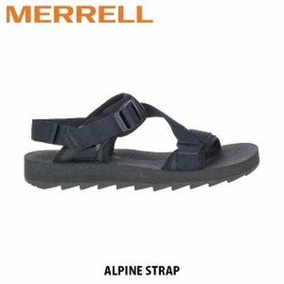 送料無料 メレル MERRELL アルパイン ストラップ ALPINE STRAP BLACK ブラック メンズ サンダル スポサン スポーツサンダル アウトドア