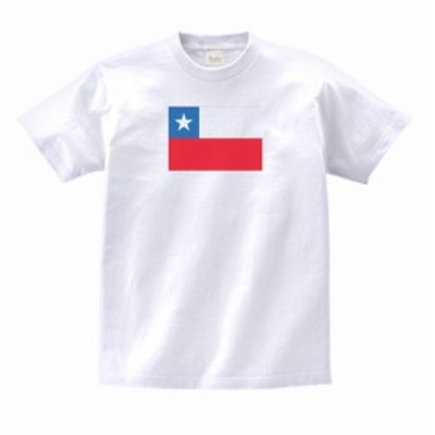 国 国旗 Tシャツ チリ 白