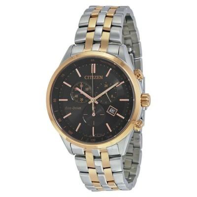 腕時計 シチズン メンズ *BRAND NEW* Citizen Men's Sapphire Eco-drive Black Dial Watch AT2146-59E