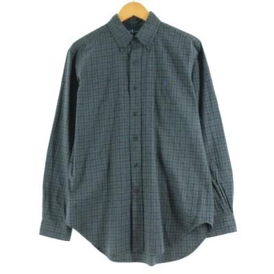 ラルフローレン Ralph Lauren 長袖 ボタンダウンチェックシャツ メンズM /eaa126986