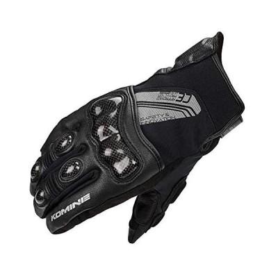 コミネ(KOMINE) バイク用 CEカーボンプロテクトショートウインターグローブ ブラック L GK-824 1192 (ブラック L)